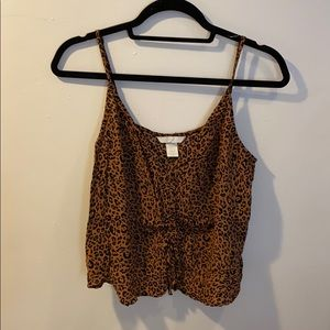 H&M cheetah print crop top